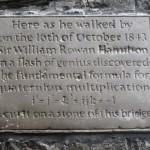 Hamilton plaque at Broombridge, Cabra