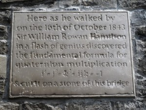 Hamilton plaque at Broombridge, Cabra