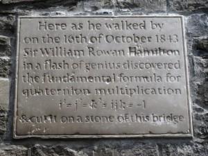 Quaternion plaque at Broome Bridge
