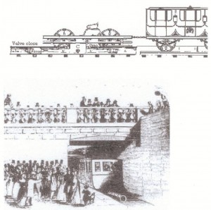 Dalkey atmospheric railway opening in 1844, Illustrated London News